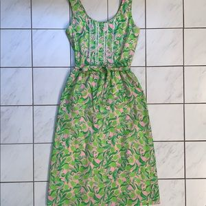 Lilly Pulitzer Vintage Pink & Green Dress